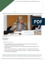Empreendedorismo é Mito Em País Que Não Cria Trabalho Digno, Diz Sociólogo - 14-09-2019 - UOL Economia