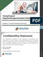 Training Proposal ITSI v.0.1