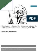 Desertores y rebeldes en Guatemala y Chiapas - Juan Carlos Sarazúa