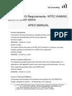 Regulatory Compliance _ Documenation _ Apex Manual Status 28 Aug 2019 _ g2 Consulting