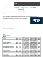 Hospitality Industry General Award Ma000009 Pay Guide
