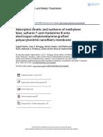 Adsorption Kinetic and Isotherm of Methylene Blue Safranin T and Rhodamine B Onto Electrospun Ethylenediamine Grafted Polyacrylonitrile Nanofibers