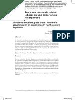 Las ciudades y sus muros de cristal. Ajuste neoliberal en una experiencia del noroeste argentino