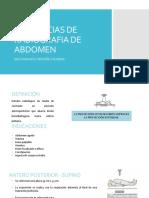 Incidencias de Radiografia de Abdomen