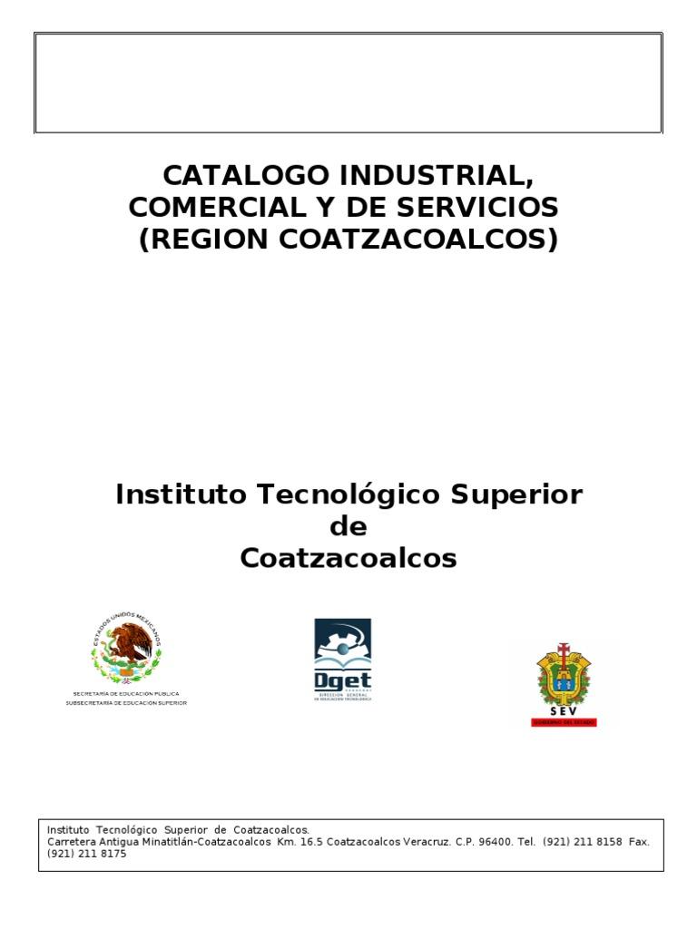 Catalogo Industrial Region Coat Zac o Al Cos