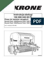 Prasa Belująca Krone Round Pack 1270- 1550