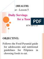 Lesson 5-Daily Servings for a Teen's Diet-G7(H)
