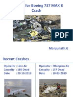 Reasons for Boeing 737 MAX 8 crash