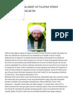 Shalawat at-tajiyah Syekh Abubakar Bin Salim Ra - Khazanah