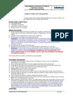 Gunk Plug Placement Procedure