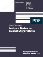 Lecture notes on Bucket algorithms- Luc Devroye