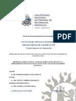 Propuesta Habitacional a Base de Estructura Metálica Ciudad Sandino
