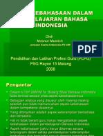 Aspek Kebahasaan Dalam Pembelajaran Bahasa Indonesia
