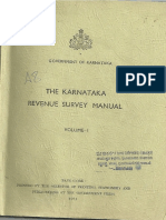 Karnataka Revenue Survey Manual Vol 1
