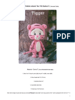 Orange Amigurumi Namsom Pan Winnie the Pooh Tigger Crochet Pattern