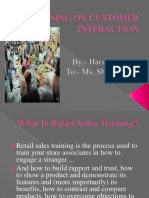Training on Customer Interaction