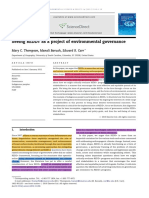 Seeing REDD+ as a project of environmental governance