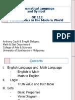 MMW Language Sets and Logic