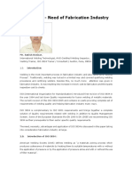 Need of ISO 3834 to Welding Fabrication Industry