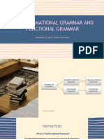 Grammatical and Functional grammar