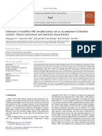 Utilization of Modified CFBC Desulfurization Ash as an Admixture in Blended