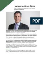 Alpina como ejemplo de la transformación y rentabilización de un negocio