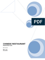CHINESE RESTAURANT Marketing Plan 1