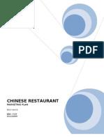 CHINESE RESTAURANT Marketing Plan 1
