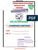 Namma Kalvi 12th Commerce Chapter 1 to 15 Study Material Em