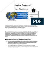What is Ecological Footprint
