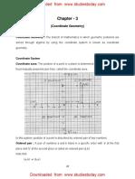 CBSE Class 9 Mathematics Worksheet - Coordinate Geometry (1)