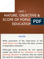Nature, Objective and Scope of Population Education