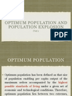 Optimum Population and Population Explosion