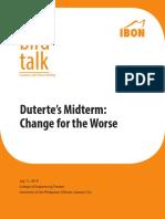 2019 Midyear Birdtalk Paper Dutertes Midterm Change for the Worse
