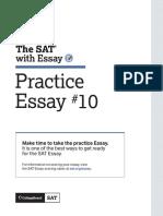 Sat Practice Test 10 Essay