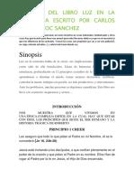 Resumen Del Libro Luz en La Tormenta Escrito Por Carlos Cuautemoc