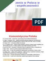 Wydarzenia w Polsce w Epoce Współczesności