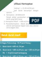 Klasifikasi Hemoptoe