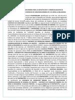 Contrato de Operacion Minera Para La Explotacion y Comercializacion de Mineral de Grafito