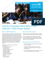 UNICEF Think Piece Call for Proposals Info Pack Final