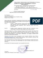 Surat Edaran Kenaikan Pangkat Dosen Yayasan Serdos