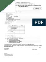 Formulir Pendaftaran f3 Jalur Prestasi