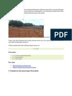 Salah satu langkah awal dalam memulai pembangunan adalah persiapan lahan yang akan dibangun dalam kondisi yang mendukung pelaksanaan pembangunan.docx