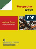 Prospectus Of National Institute of Open Schooling