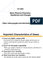 Ideal and Real Gases