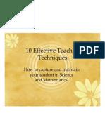 10 Effective Teaching Techniques