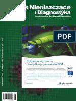Badania nieniszczące i diagnostyka 01-02-2017