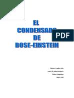 El condensado de Bose