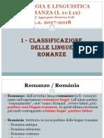 1- Classificazione Delle Lingue Romanze