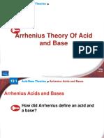 2 Arrhenius Theory